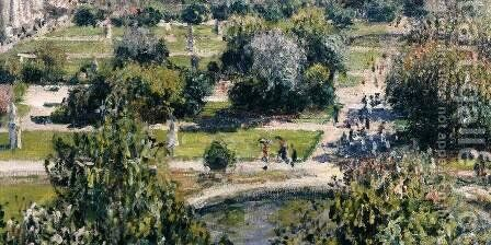 View of the Tuileries Garden (detail) by Claude Oscar Monet - Reproduction Oil Painting