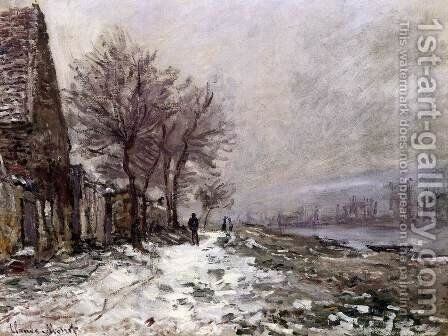 Lavacourt in Winter by Claude Oscar Monet - Reproduction Oil Painting