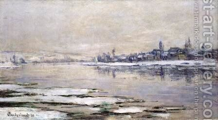 The Breakup of the Ice at Lavacourt by Claude Oscar Monet - Reproduction Oil Painting