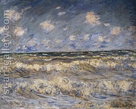 Stormy Sea by Claude Oscar Monet - Reproduction Oil Painting