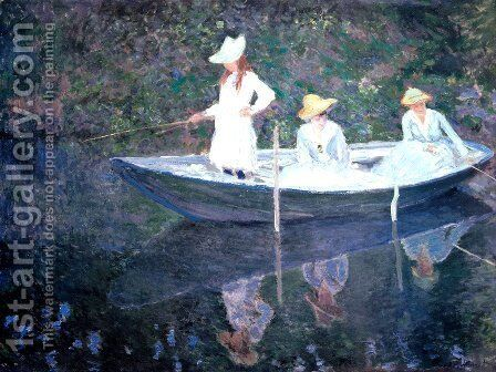 The Boat at Giverny by Claude Oscar Monet - Reproduction Oil Painting