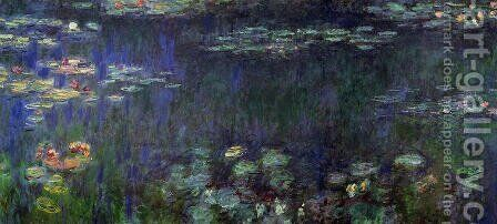 Water Lilies, Green Harmony by Claude Oscar Monet - Reproduction Oil Painting