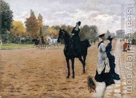 The Amazon by Giuseppe de Nittis - Reproduction Oil Painting