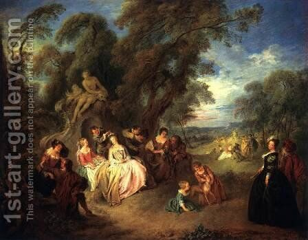 Fte Champtre by Jean-Baptiste Joseph Pater - Reproduction Oil Painting
