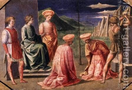 Beheading of Sts Cosmas and Damian by Francesco Pesellino - Reproduction Oil Painting