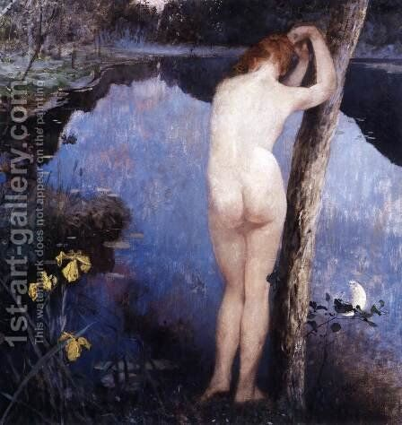 Nocturne by Eilif Peterssen - Reproduction Oil Painting