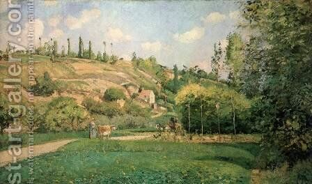 A Cowherd at Pontoise by Camille Pissarro - Reproduction Oil Painting