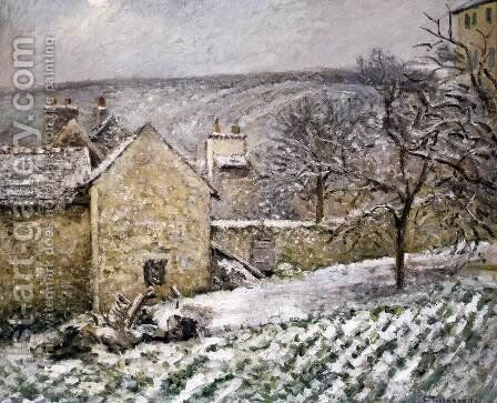 Snow at l'Hermitage, Pontoise by Camille Pissarro - Reproduction Oil Painting