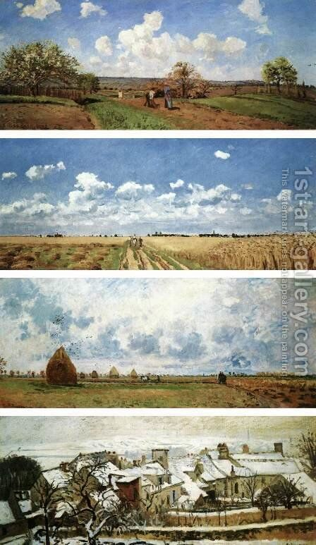 The Four Seasons by Camille Pissarro - Reproduction Oil Painting