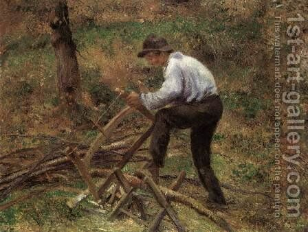 The Woodcutter by Camille Pissarro - Reproduction Oil Painting