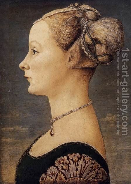 Portrait of a Lady by Antonio Pollaiolo - Reproduction Oil Painting