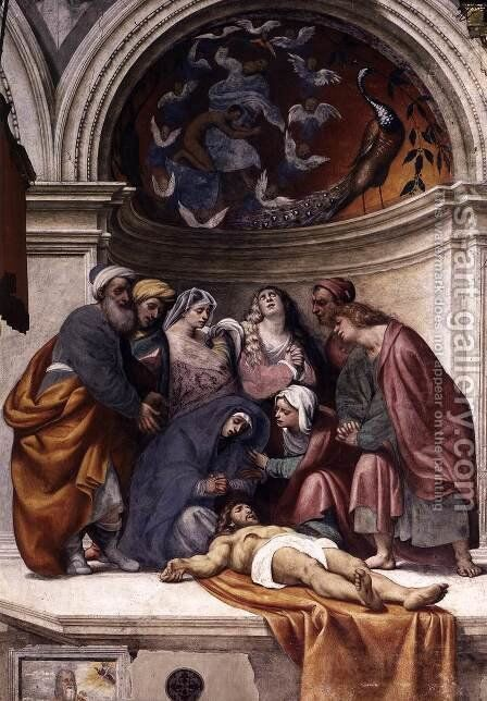 Lamentation by (Giovanni Antonio de' Sacchis) Pordenone - Reproduction Oil Painting