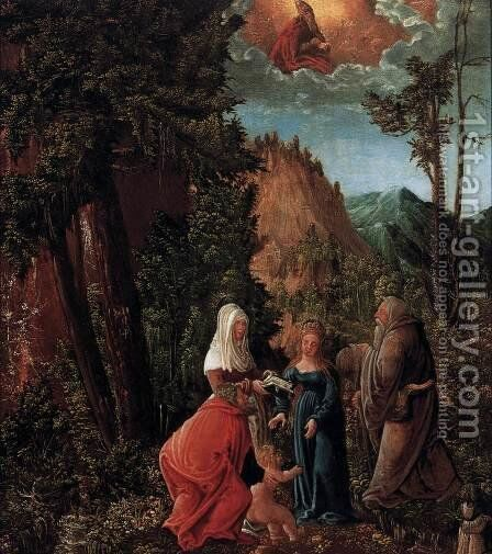 The Holy Family in a Forest by Hans  Pruckendorfer - Reproduction Oil Painting