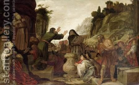 Paul and Barnabas at Lystra by Jacob Pynas - Reproduction Oil Painting