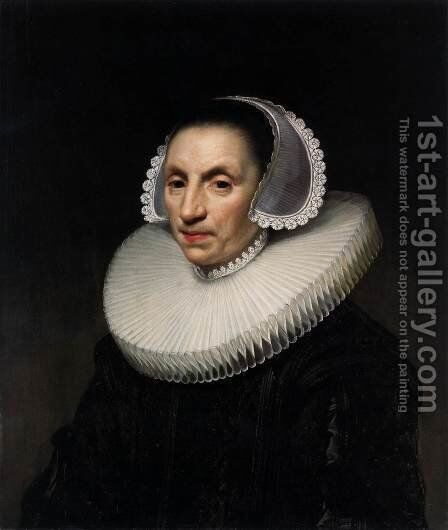 Portrait of a Woman by Anthony van Ravesteyn - Reproduction Oil Painting