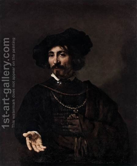Man with a Steel Gorget by Rembrandt - Reproduction Oil Painting