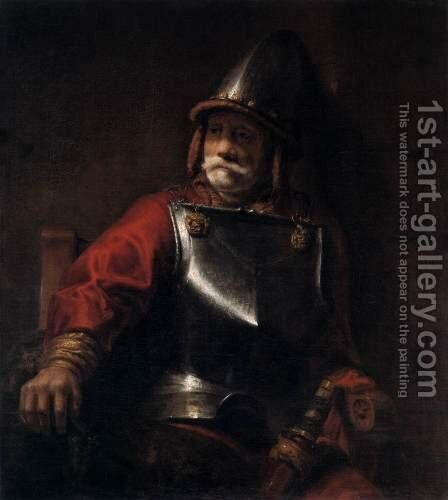 Man in Armour (Mars) by Rembrandt - Reproduction Oil Painting