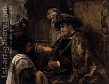 Pilate Washing His Hands by Rembrandt - Reproduction Oil Painting
