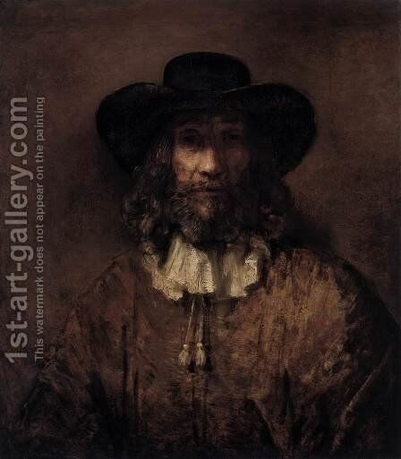 Man with a Beard 2 by Rembrandt - Reproduction Oil Painting