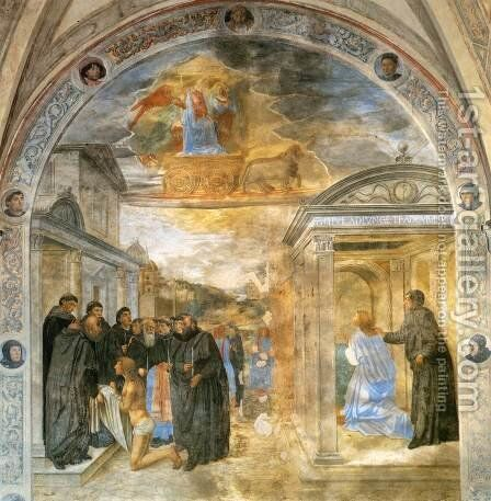 Scene from the Life of St Filippo Benizzi by Cosimo Rosselli - Reproduction Oil Painting