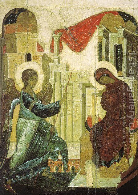 Annunciation by Andrey Rublyov - Reproduction Oil Painting