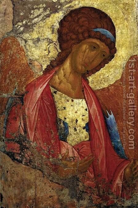 Deesis Range The Archangel Michael by Andrey Rublyov - Reproduction Oil Painting