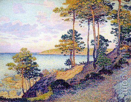 Pointe Saint-Pierre at Saint-Tropez by Theo van Rysselberghe - Reproduction Oil Painting