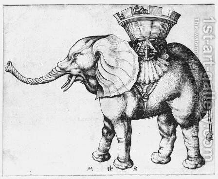 Elephant by Martin Schongauer - Reproduction Oil Painting