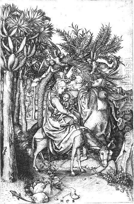 Rest on the Flight into Egypt by Martin Schongauer - Reproduction Oil Painting