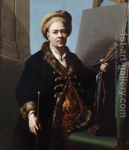 Self-Portrait by Jacques or Jakobus van Schuppen - Reproduction Oil Painting