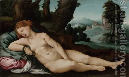 Death of Cleopatra by Jan Van Scorel - Reproduction Oil Painting