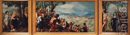 Lochorst Triptych by Jan Van Scorel - Reproduction Oil Painting