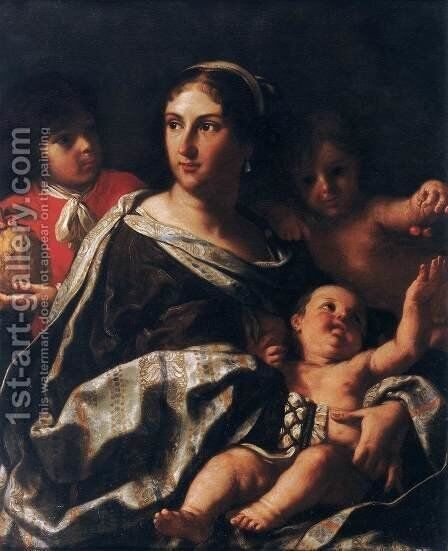 Portrait of Anna Maria Ranuzzi Marsigli as Charity by Elisabetta Sirani - Reproduction Oil Painting