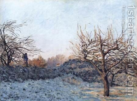 The Frost by Alfred Sisley - Reproduction Oil Painting