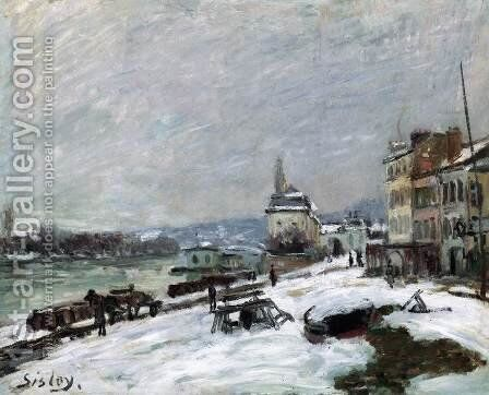 Winter at Marly-le-Roi, Snow Effect by Alfred Sisley - Reproduction Oil Painting