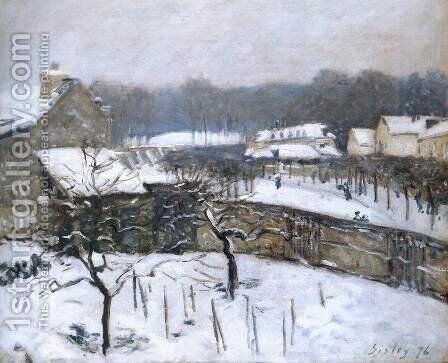 Snow Effect at Louveciennes 2 by Alfred Sisley - Reproduction Oil Painting