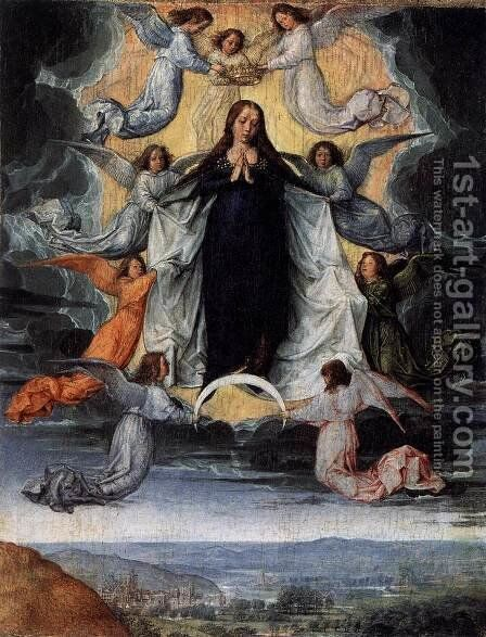 Assumption of the Virgin by Michel Sittow - Reproduction Oil Painting