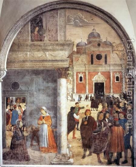 Scene from the Life of St Benedict by Andrea Solario - Reproduction Oil Painting