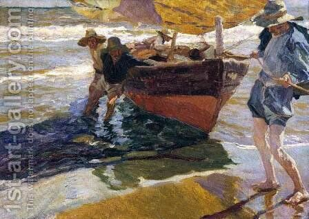 Return from Fishing by Joaquin Sorolla y Bastida - Reproduction Oil Painting