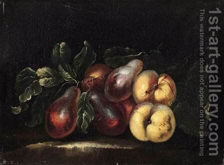 Still-Life of Fruit by Giovanni Paolo Castelli  (lo Spadino) - Reproduction Oil Painting