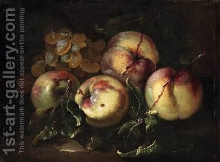 Still-Life of Fruit 2 by Giovanni Paolo Castelli  (lo Spadino) - Reproduction Oil Painting