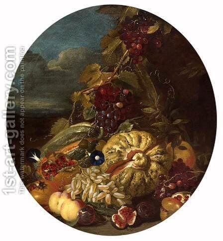Still-Life by Giovanni Paolo Castelli  (lo Spadino) - Reproduction Oil Painting
