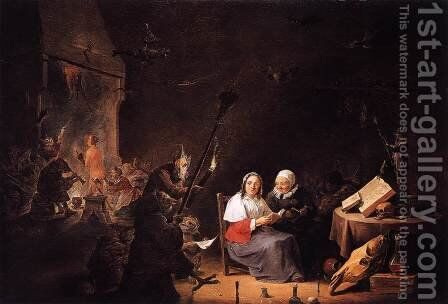 Witches' Initiation by David The Younger Teniers - Reproduction Oil Painting