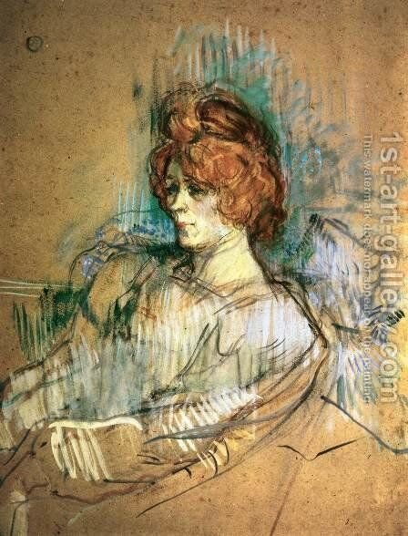 Seated Woman by Toulouse-Lautrec - Reproduction Oil Painting