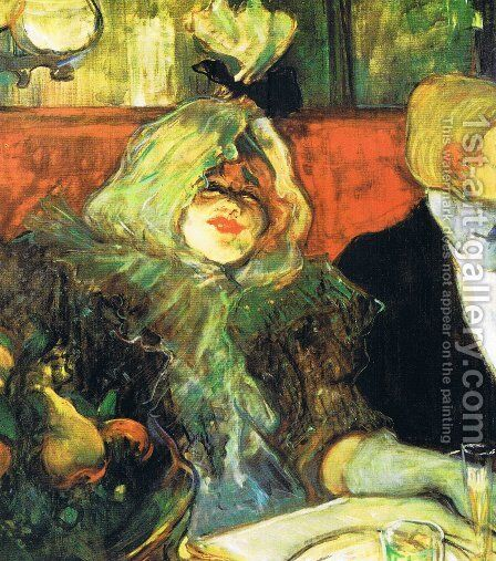 Private Room in the Le rat mort by Toulouse-Lautrec - Reproduction Oil Painting