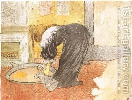 The Tub by Toulouse-Lautrec - Reproduction Oil Painting