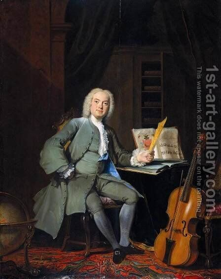 Portrait of a Music Lover by Cornelis Troost - Reproduction Oil Painting