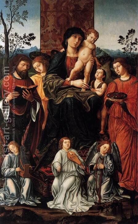 Sacra Conversazione by Italian Unknown Masters - Reproduction Oil Painting