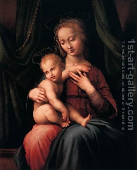 Madonna with Child by Italian Unknown Masters - Reproduction Oil Painting