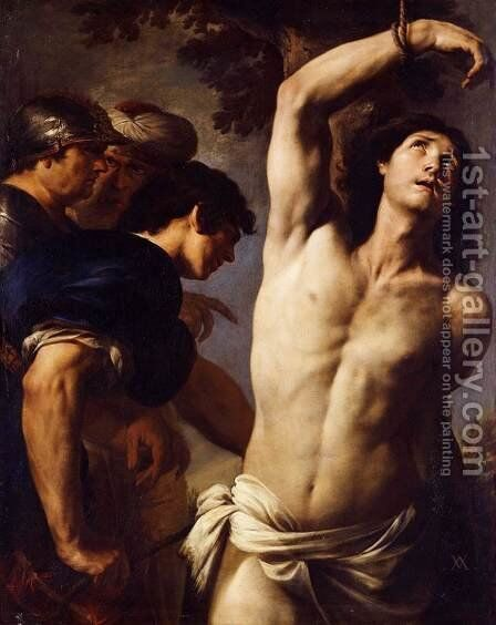 The Martyrdom of St Sebastian by Andrea Vaccaro - Reproduction Oil Painting